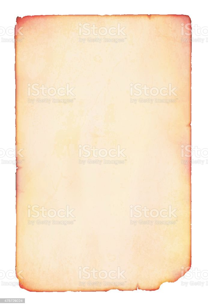 Old plain paper vector art illustration