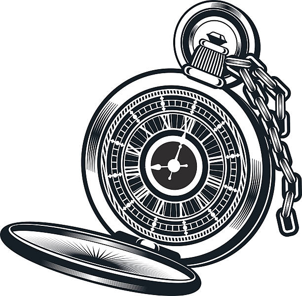 Vectores De Tatuajes Reloj De Bolsillo E Ilustraciones Libres De