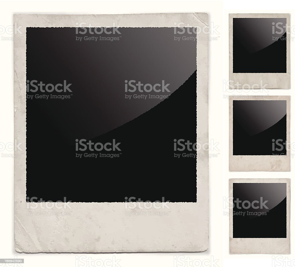 Old Polaroid Picture royalty-free old polaroid picture stock vector art & more images of crumpled
