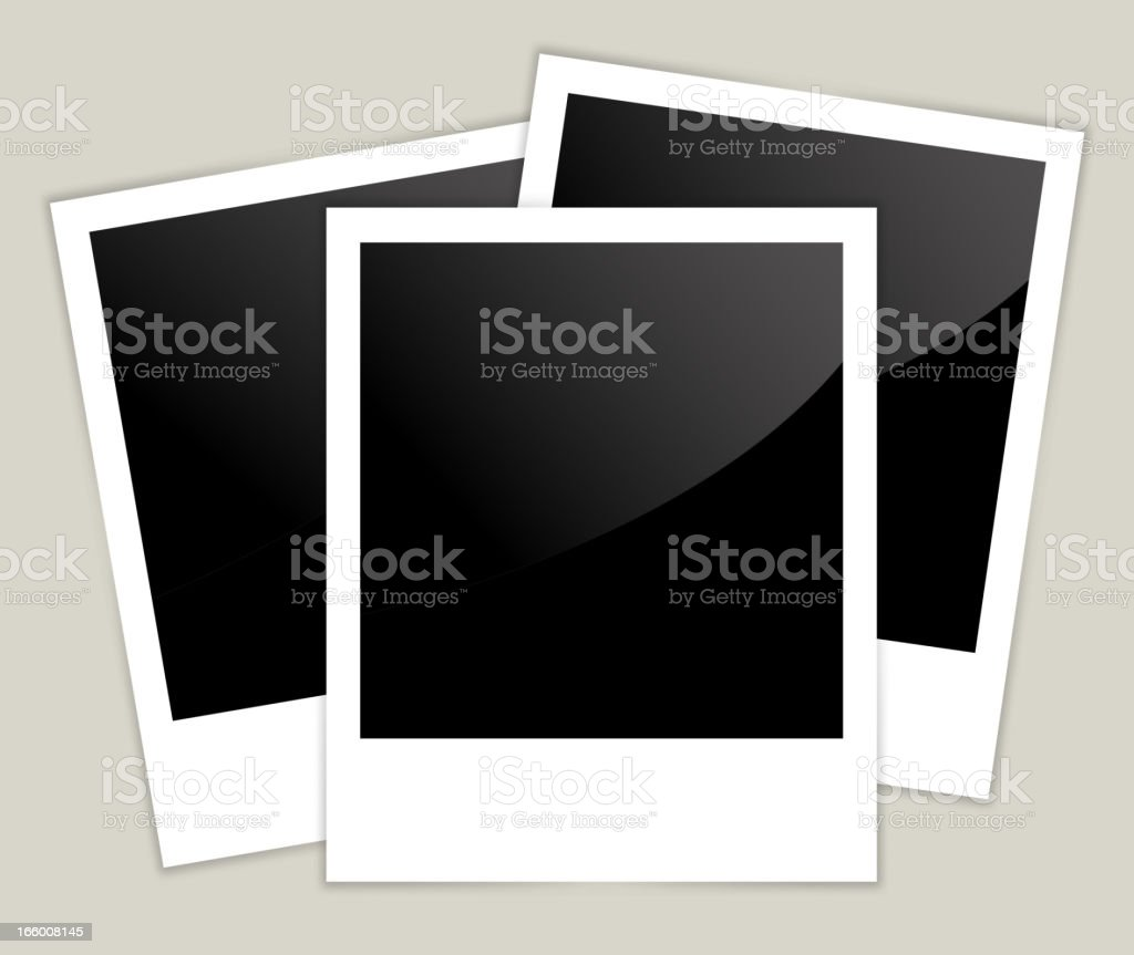 Old Polaroid Picture royalty-free stock vector art