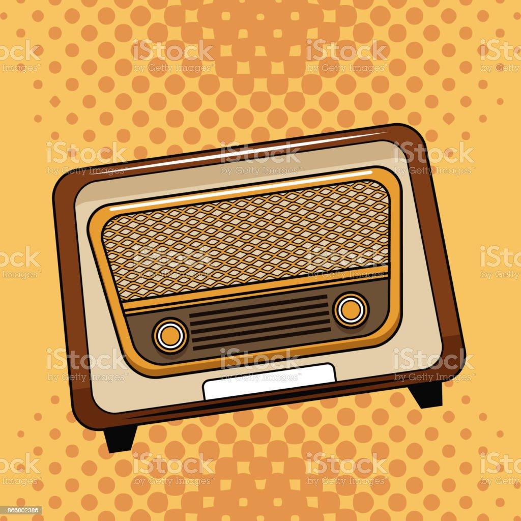 Ilustraci n de antiguos dibujos animados de arte pop radio y m s banco de im genes de anal gico - Fotos radios antiguas ...