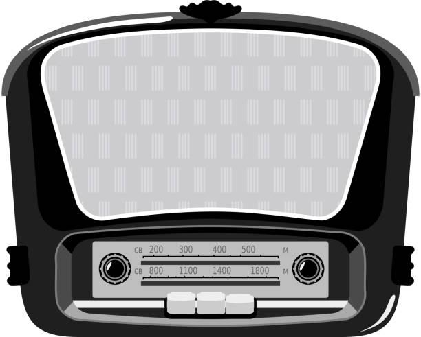alten radio - rechenstationen stock-grafiken, -clipart, -cartoons und -symbole