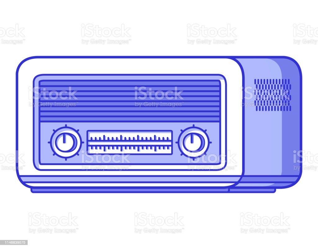 Old Radioretro Vintage Technologymusical Playermedia And