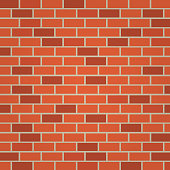 old red brick wall background illustration vector.