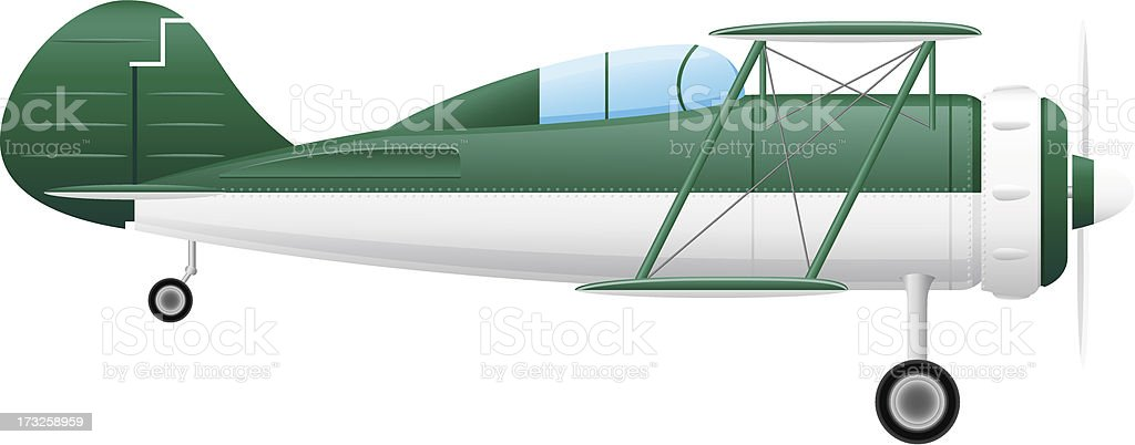 old retro airplane vector illustration royalty-free stock vector art
