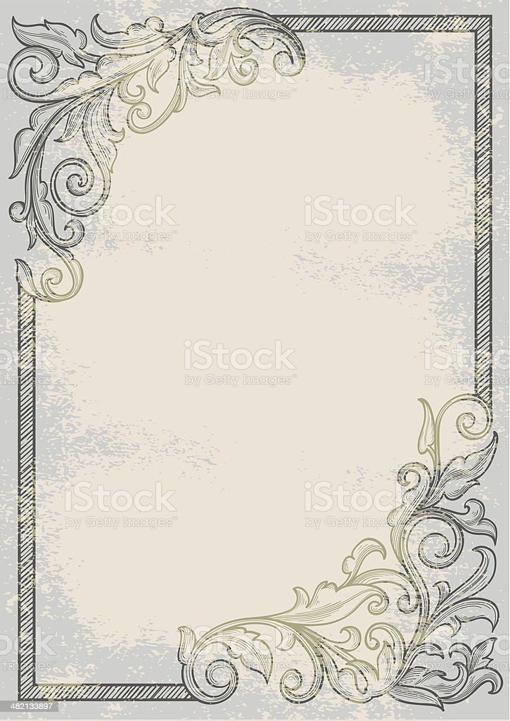 Old retro blank royalty-free stock vector art