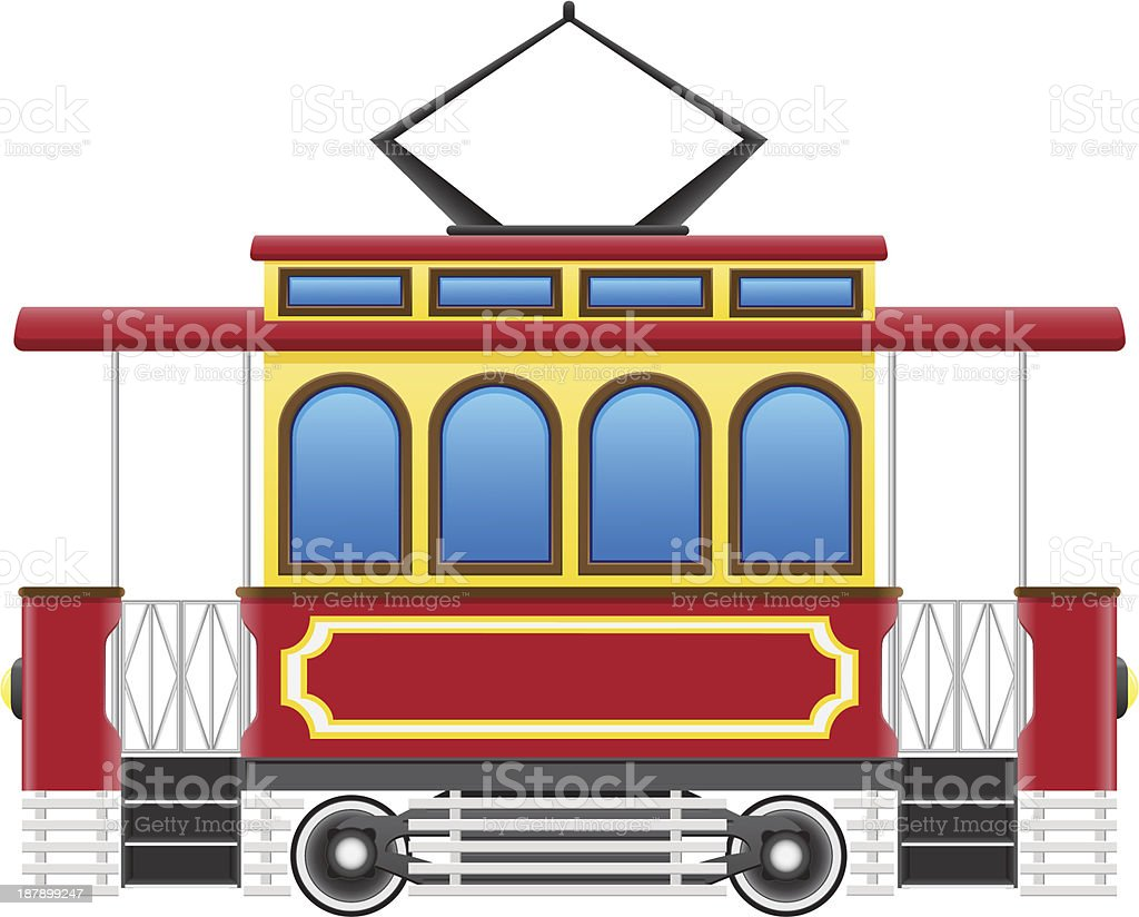 old retro tram vector illustration royalty-free old retro tram vector illustration stock vector art & more images of antique