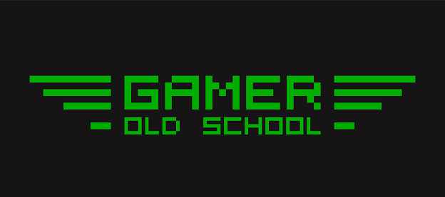 Old retro video gamer t-shirt template for print