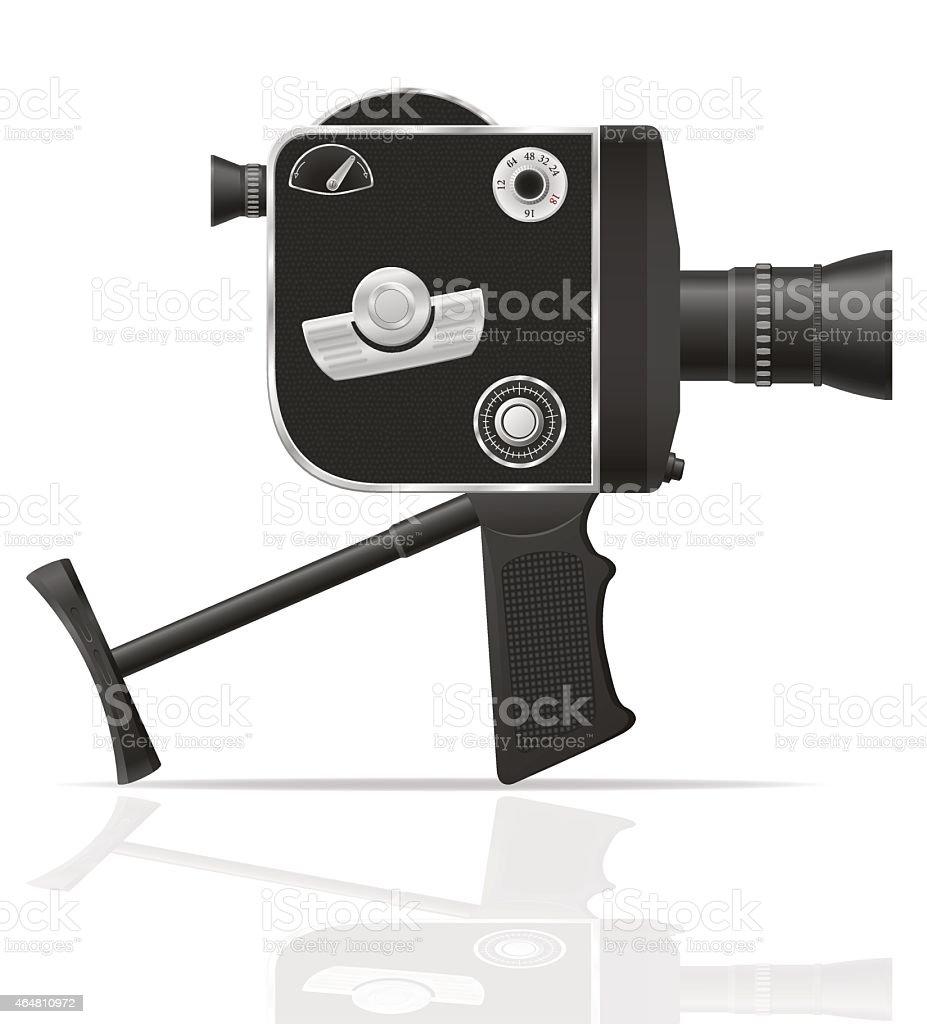 Old Retro Vintage Movie Video Camera Vector Illustration Stock