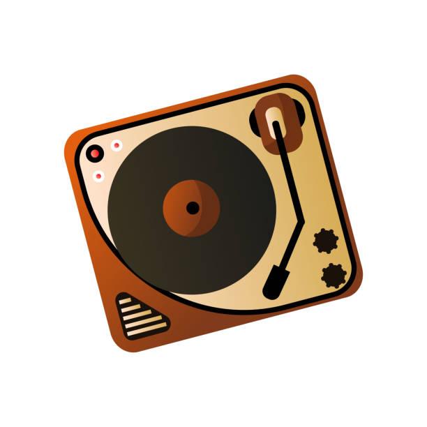 bildbanksillustrationer, clip art samt tecknat material och ikoner med gammal retro vintage vinylspelare, hemmedia enhet - street dance