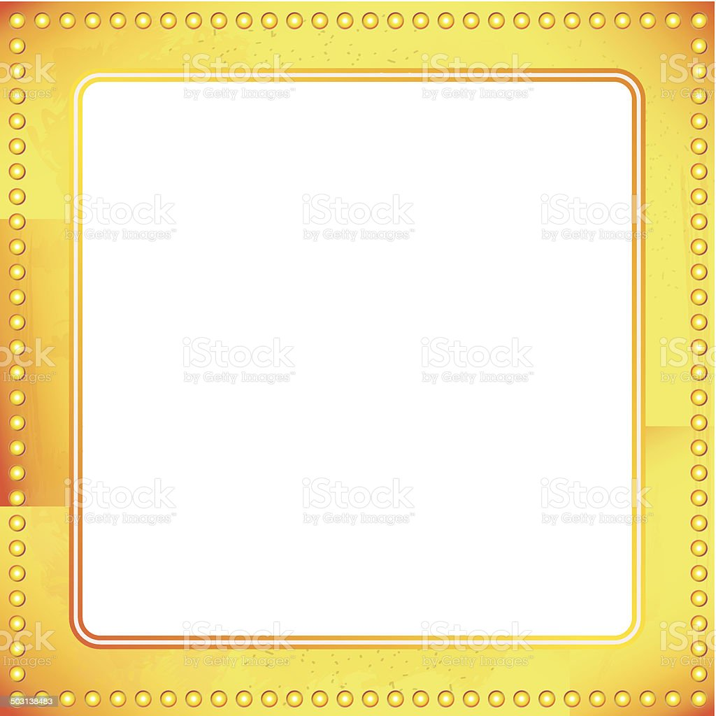 old riveted gold metal frame royalty-free stock vector art