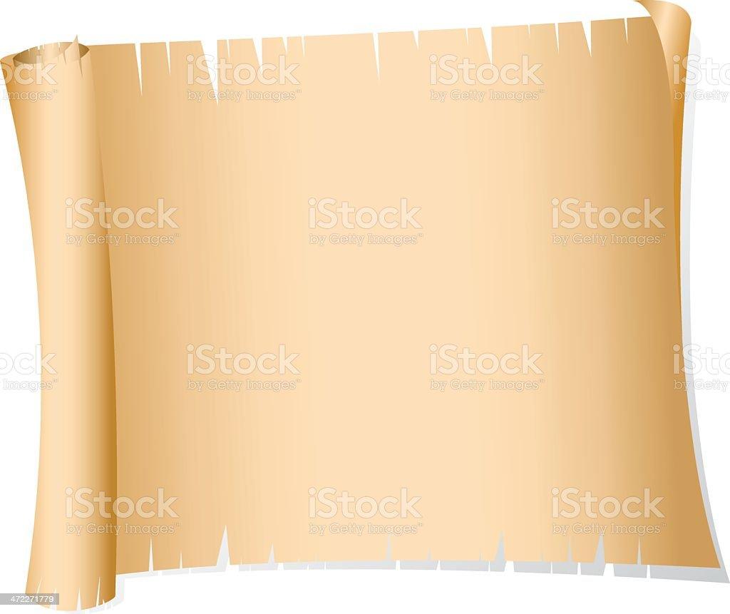 Vieux rouleau de papier - Illustration vectorielle