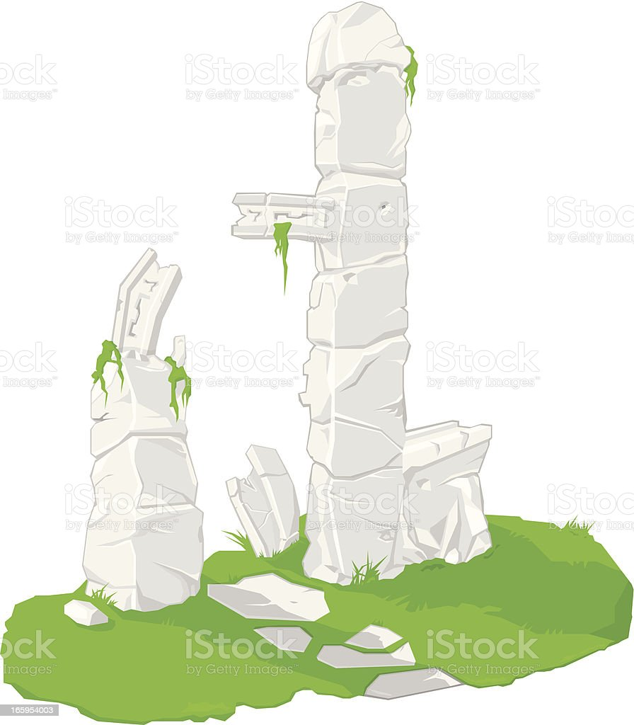 Old Ruins royalty-free stock vector art