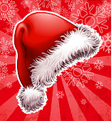Drawn of vector Santa hat sign. This file of transparent and created by illustrator CS6.