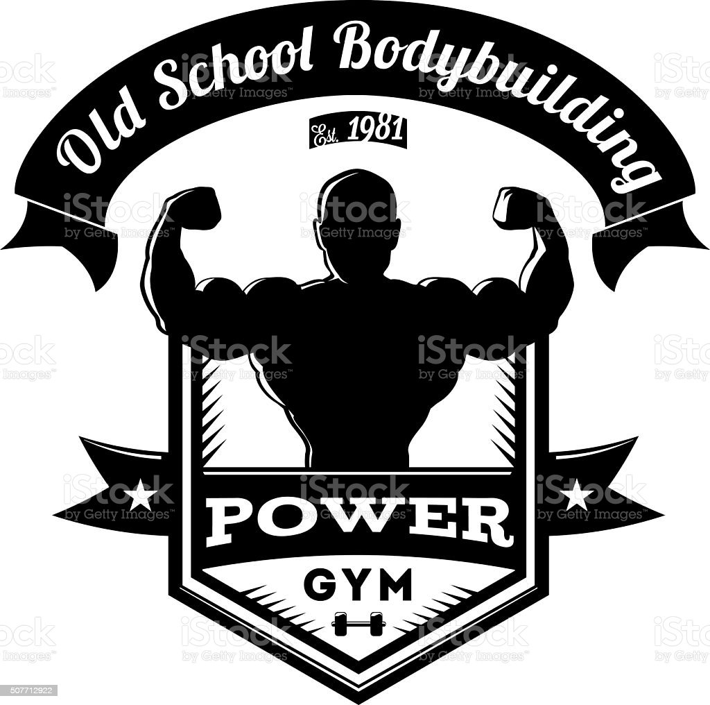 Old School Bodybuilding Gym Logo Stock Vector Art  for Gym Logo Pictures  155fiz