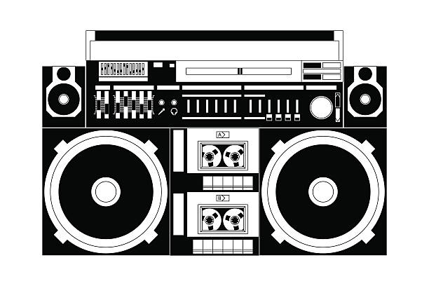 Best Boombox Illustrations, Royalty-Free Vector Graphics ...