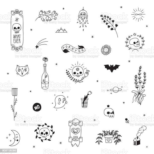 Old school hipster black tattoo vector set part two vector id908708086?b=1&k=6&m=908708086&s=612x612&h=j3ehz38dcuei6knfr77h4nwq  uo0cht4a1mcgugr5u=