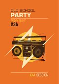 Old school party poster.