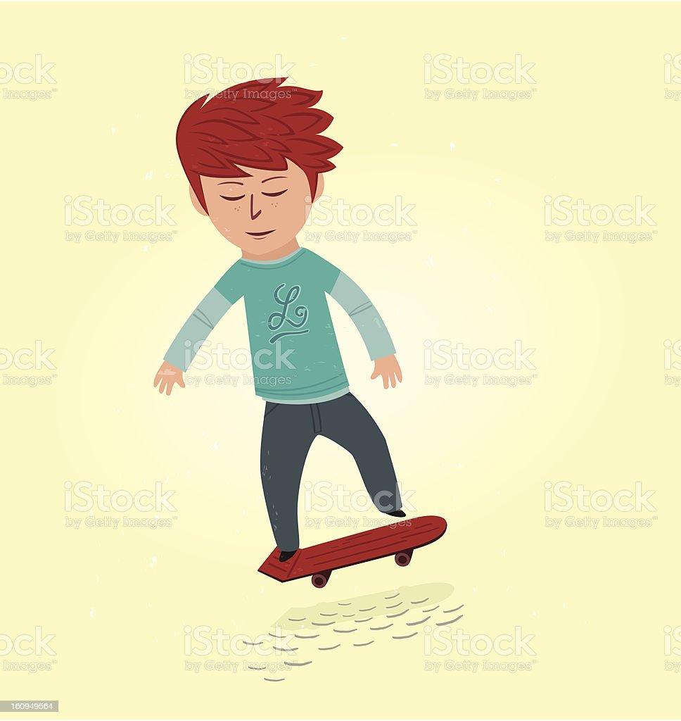 Old school skater royalty-free stock vector art