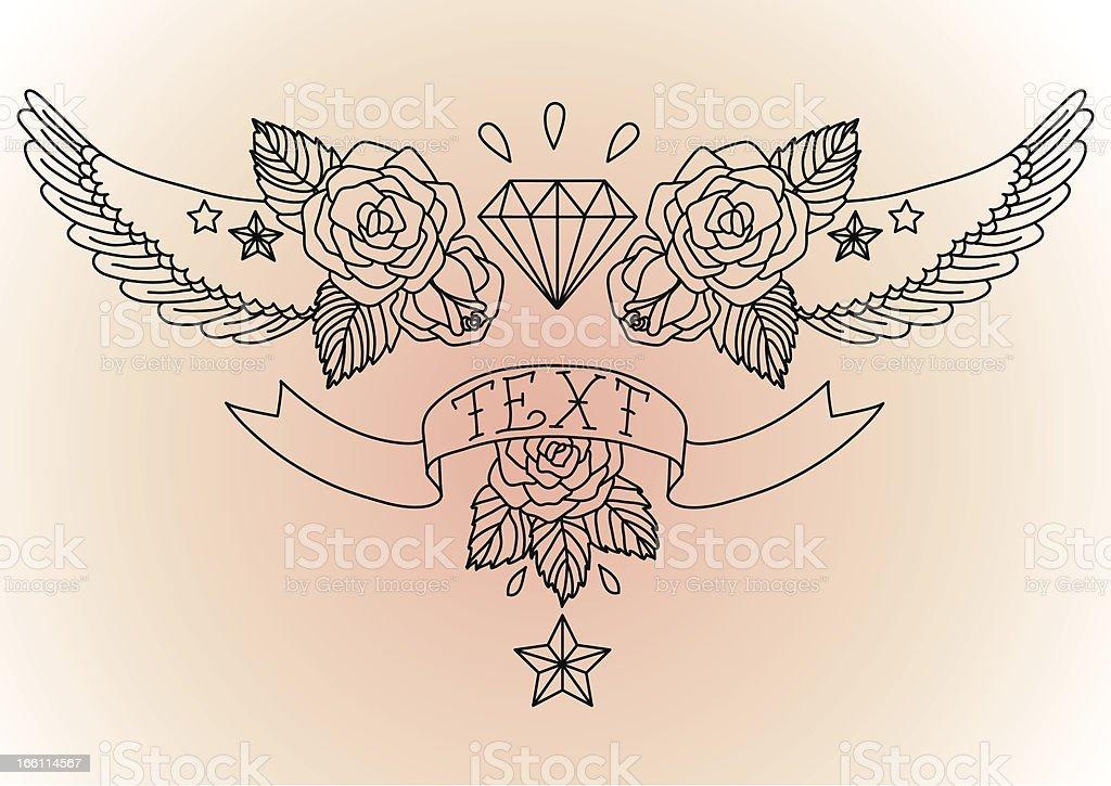 Old School Tatuagem Preto Arte Vetorial De Stock E Mais