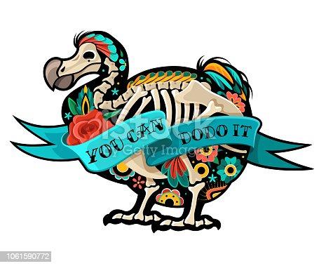 Old school tattoo Dodo