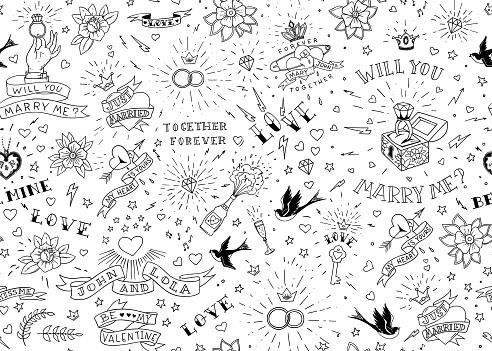 tattoo background stock illustrations