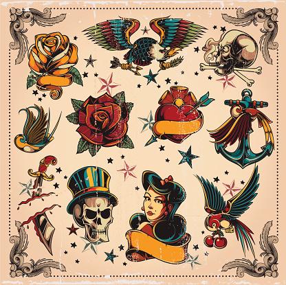 Tattoo stock illustrations