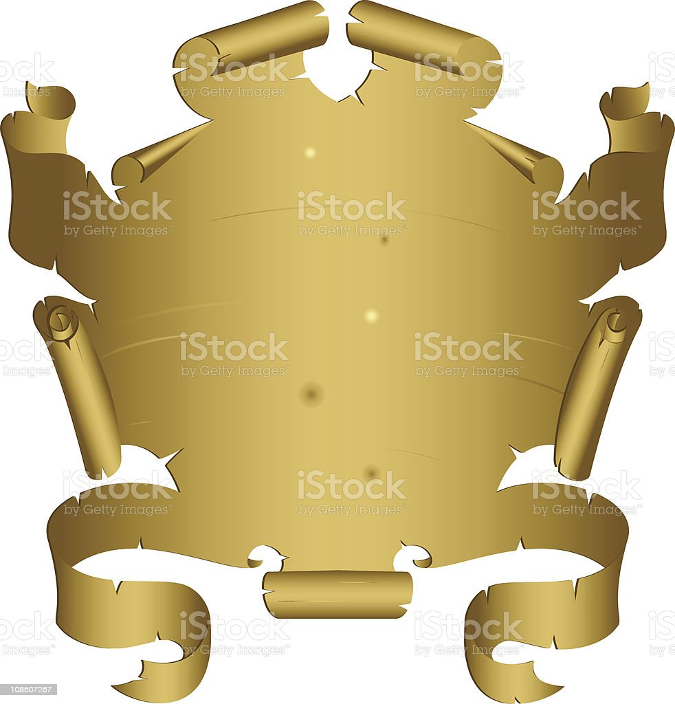 Old Scroll royalty-free stock vector art