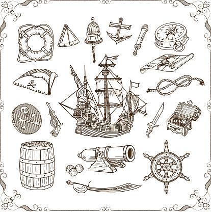 Old Sea Doodles Set