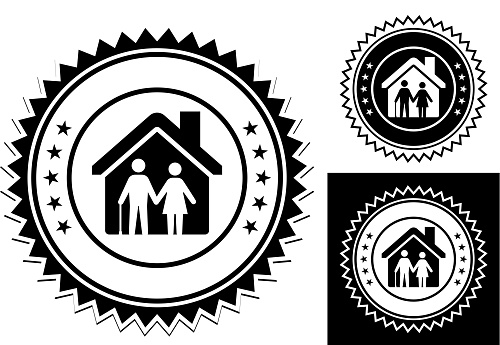 Old Seniors Alone in the House Icon