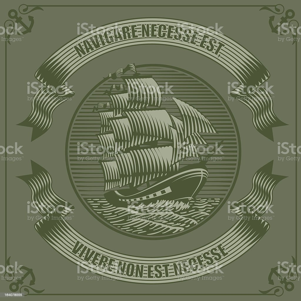 old ship royalty-free stock vector art
