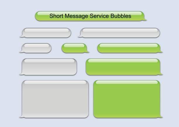 old sms bubbles - text stock illustrations, clip art, cartoons, & icons