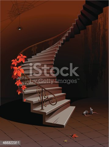 istock Old stairs 455322311