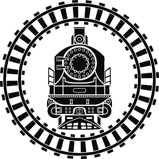 illustrations, cliparts, dessins animés et icônes de vieille locomotive à vapeur de cadre - voie ferrée