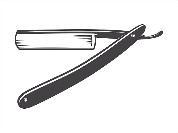 Old Straight razor vector Straight razor vector isolated on a white background vector illustration blade stock illustrations