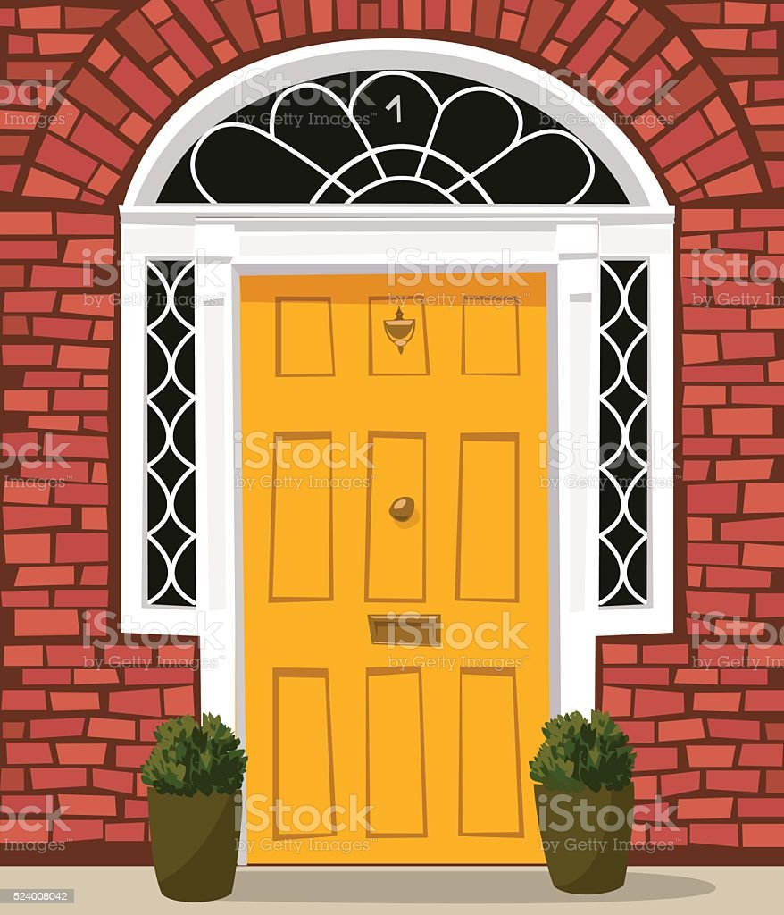 Old Style Front Door Stock Vector Art & More Images of Architectural ...