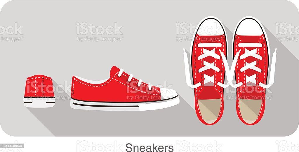 old style sport sneakers shoe - 免版稅2015年圖庫向量圖形