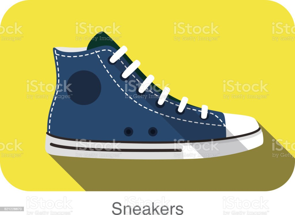 old style sport sneakers shoe vector art illustration