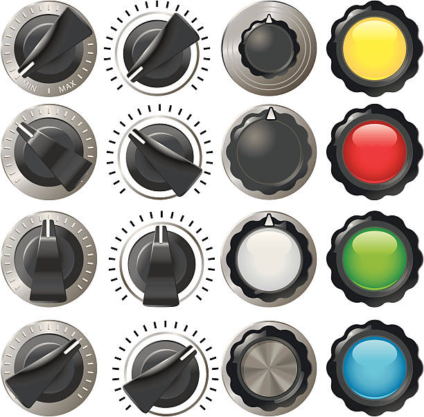 Old style switches http://dl.dropbox.com/u/38654718/istockphoto/Media/download.gif knob stock illustrations
