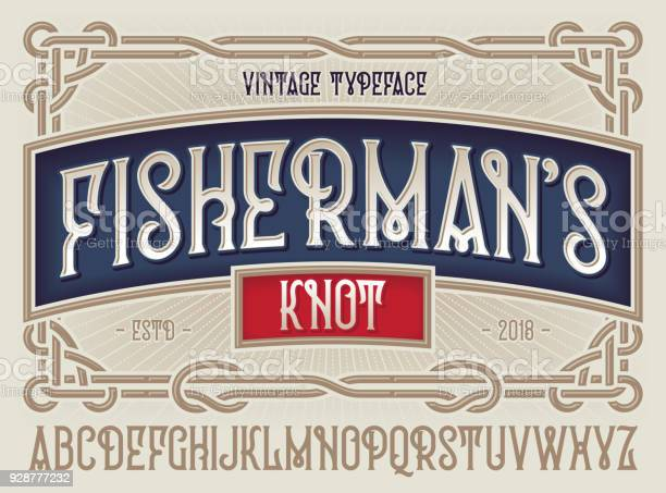 Old style typeface fishermans knot with beautiful decorative vintage vector id928777232?b=1&k=6&m=928777232&s=612x612&h=4geqv7om2s mrzf6ospwvpisoekhgtldqn sbm748fo=