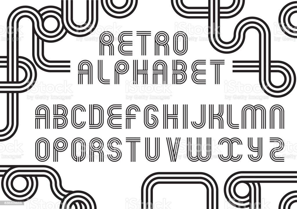 Beliebt Ancien Style Vecteur Alphabet Type Rétro Polices Disco Typographie  GV03