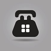 Old Telephone icon vector illustration eps10