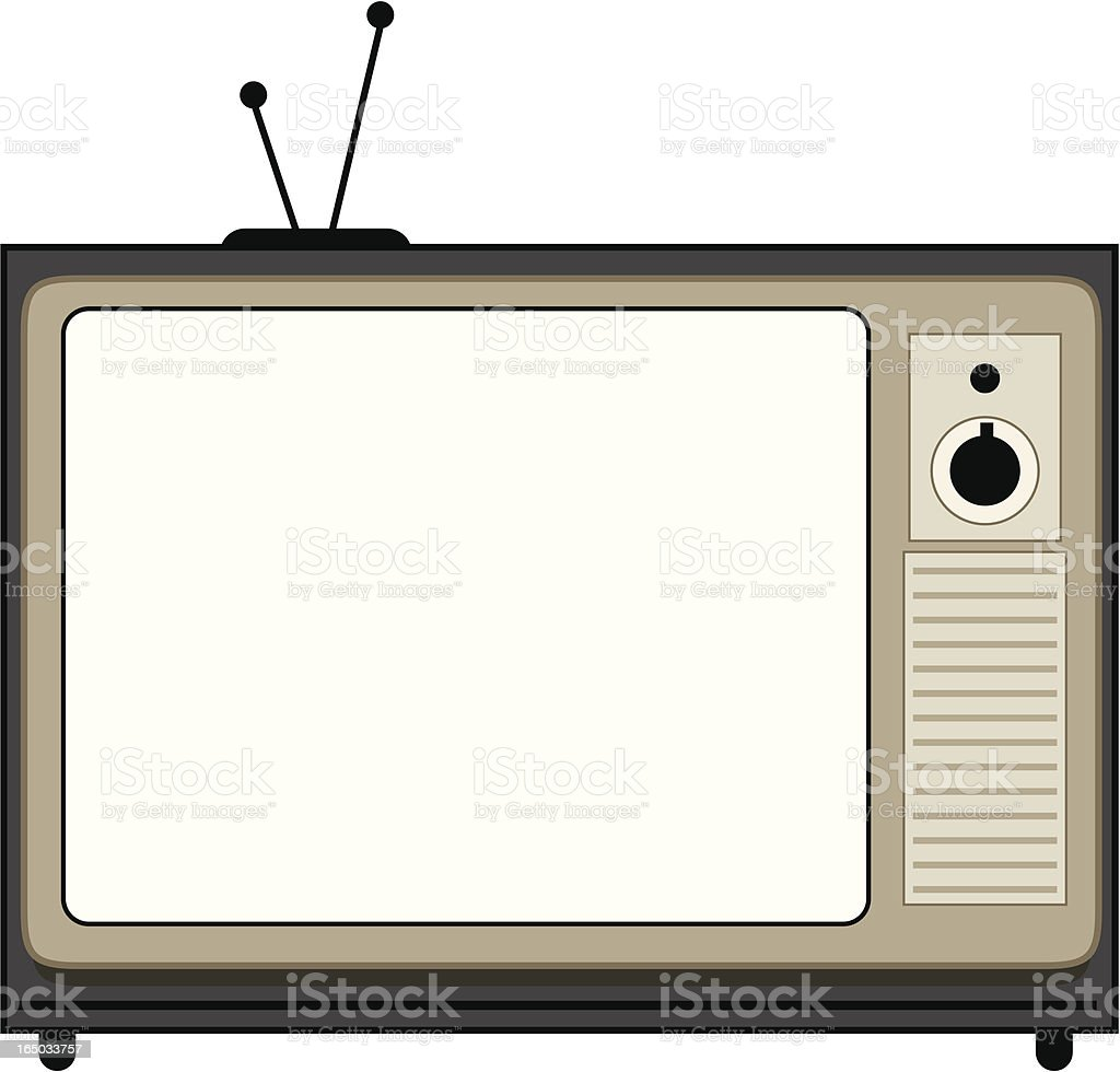 Old television set royalty-free stock vector art