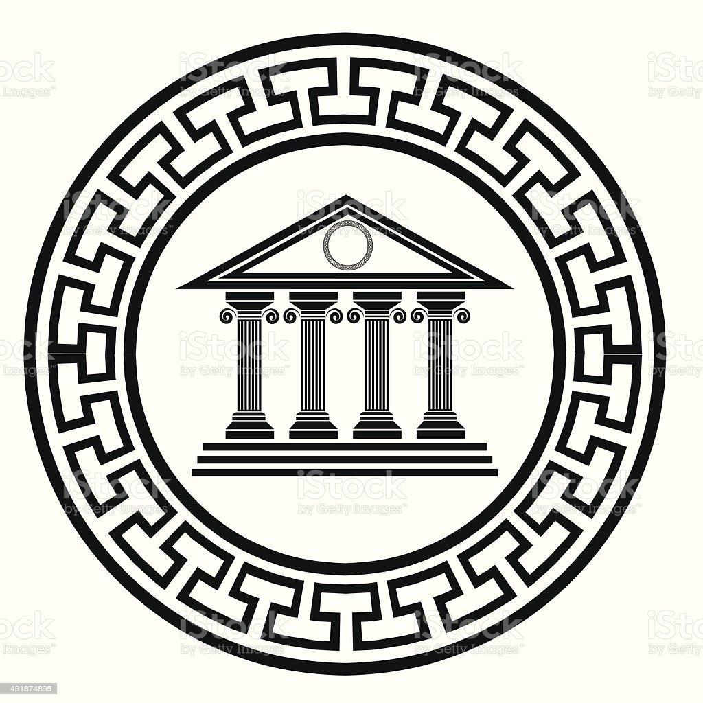 old temple vector art illustration