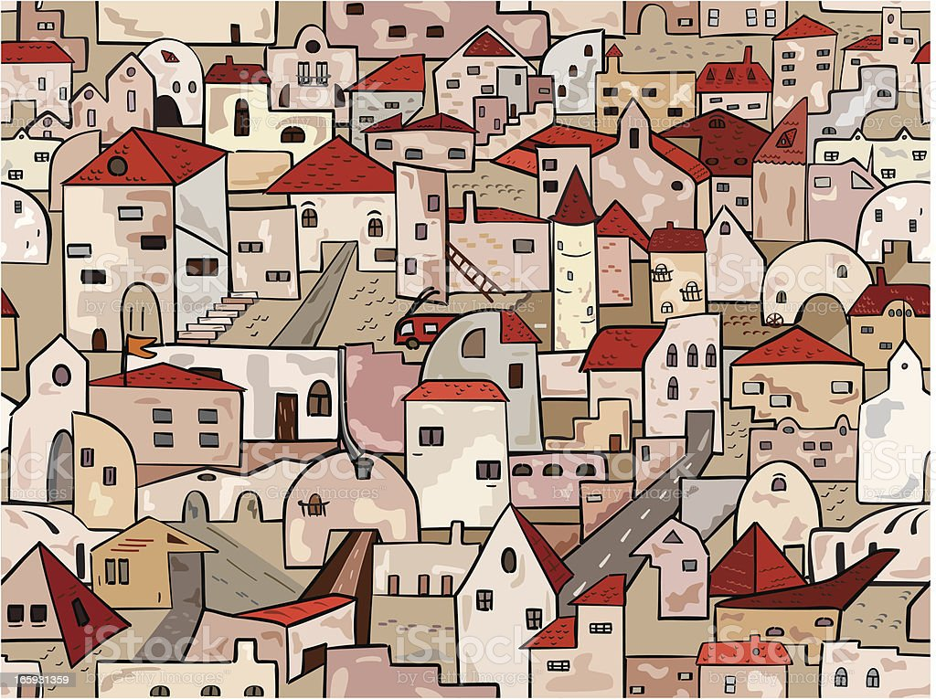 Old town seamless background royalty-free stock vector art