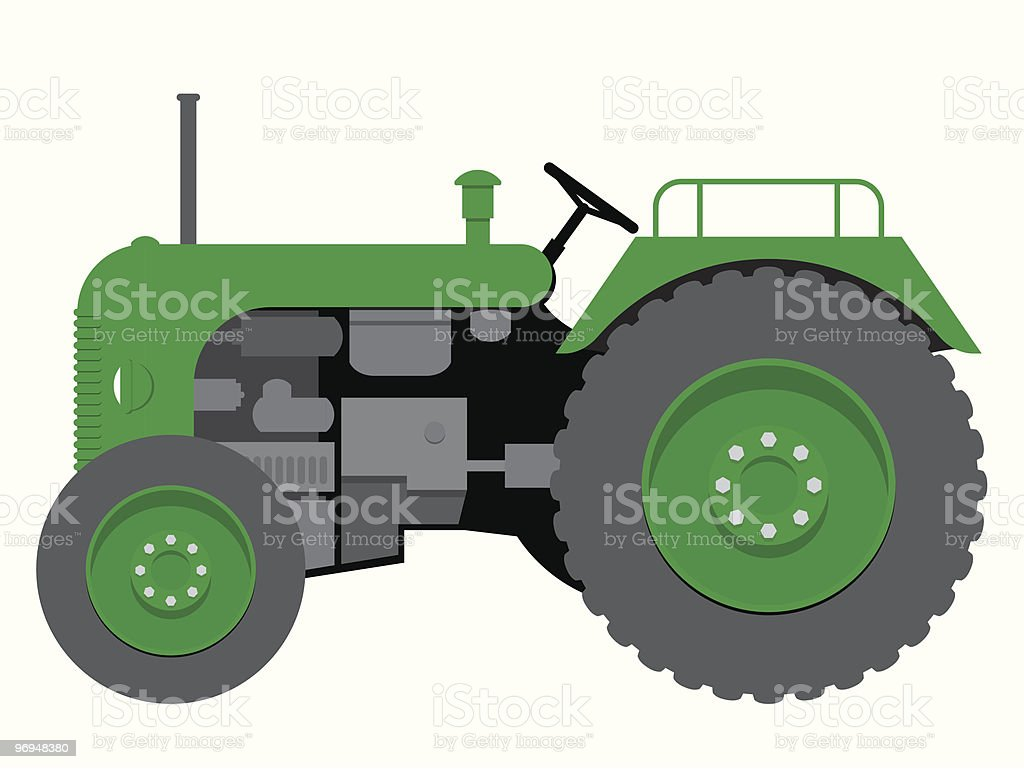 Farm Tractor Wheel Clip Art : Old tractor stock vector art more images of agriculture