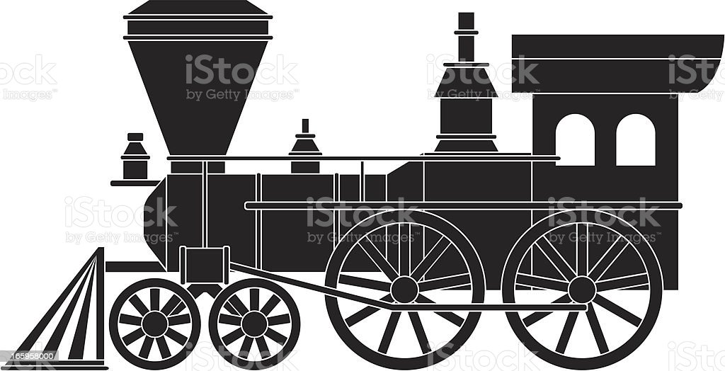 Old Train royalty-free stock vector art