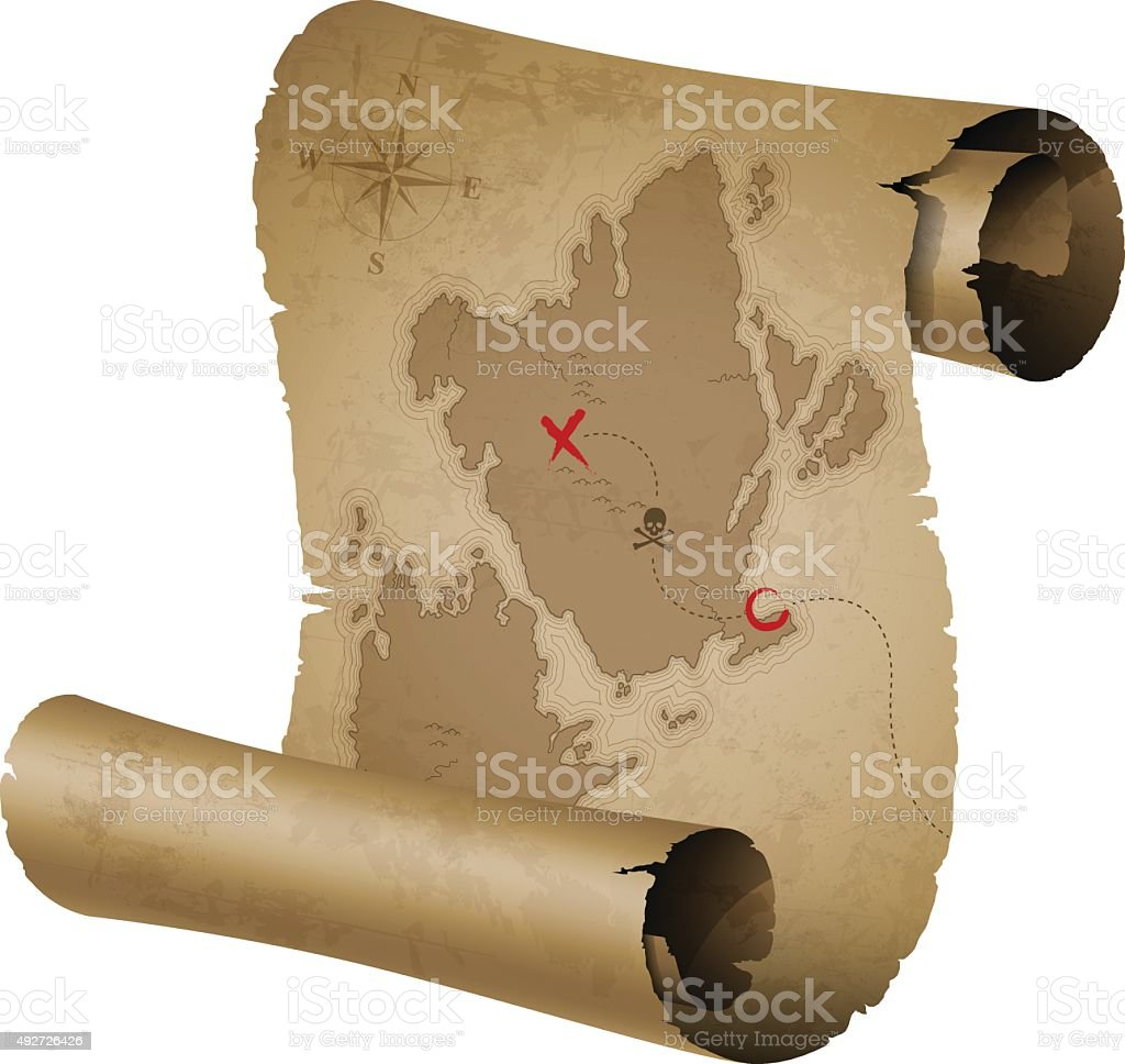 Old Treasure Map Royalty Free Stock Vector Art Amp More Images