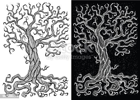 Hand drawn doodle engraved illustration with graphic drawings
