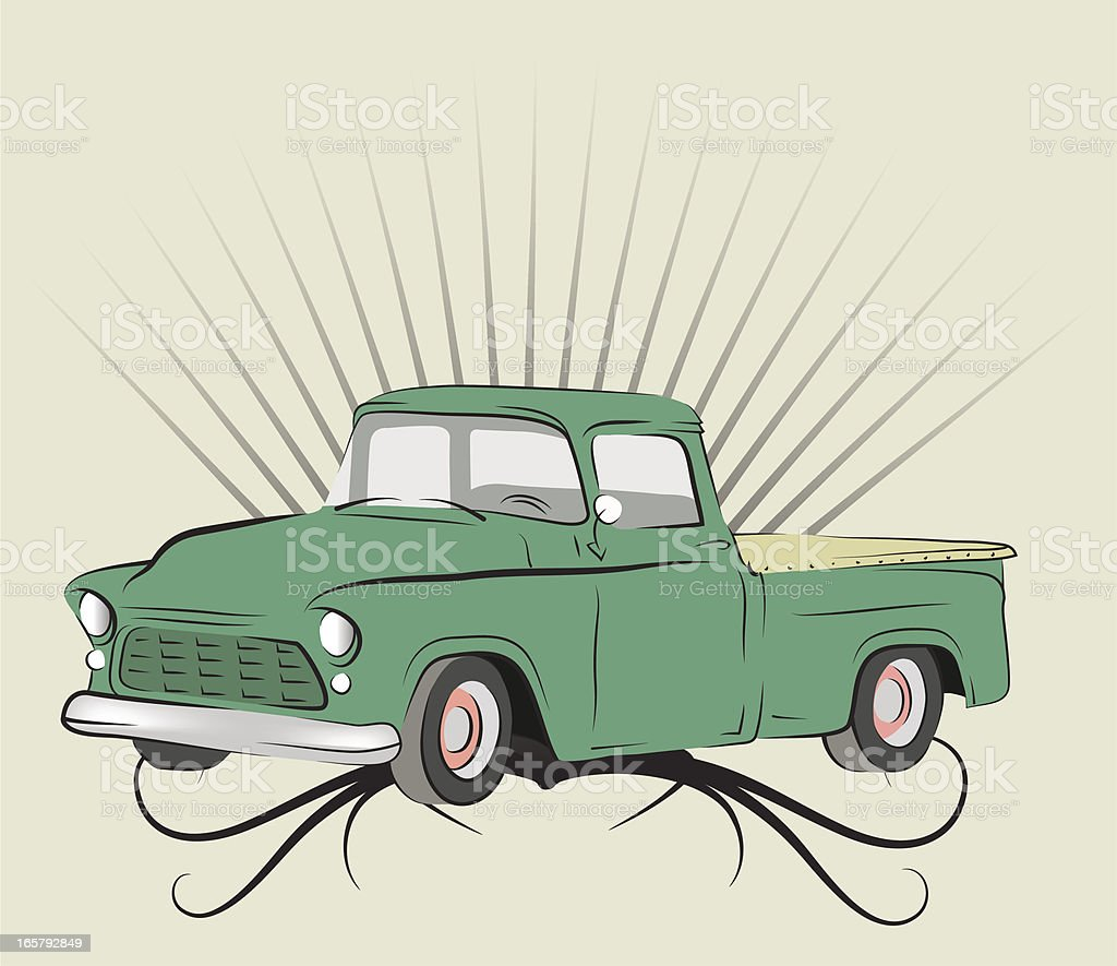 Old truck. royalty-free old truck stock vector art & more images of backgrounds
